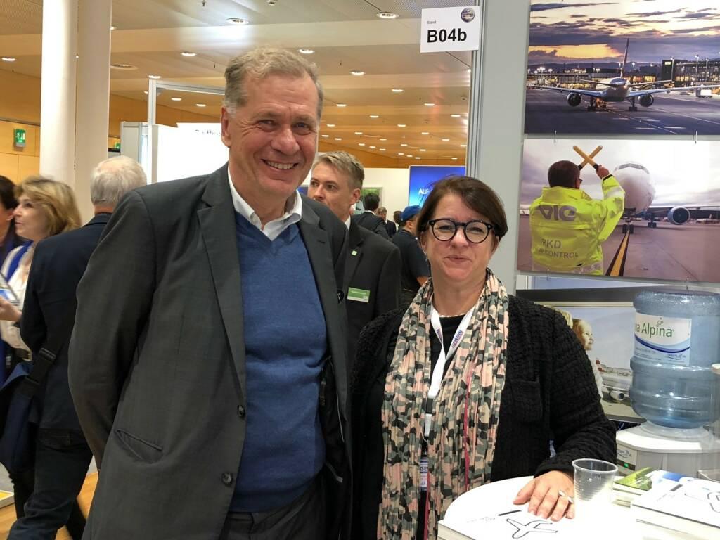 Wilhelm Rasinger (IVA), Judit Helenyi (Flughafen Wien IR) (18.10.2018)
