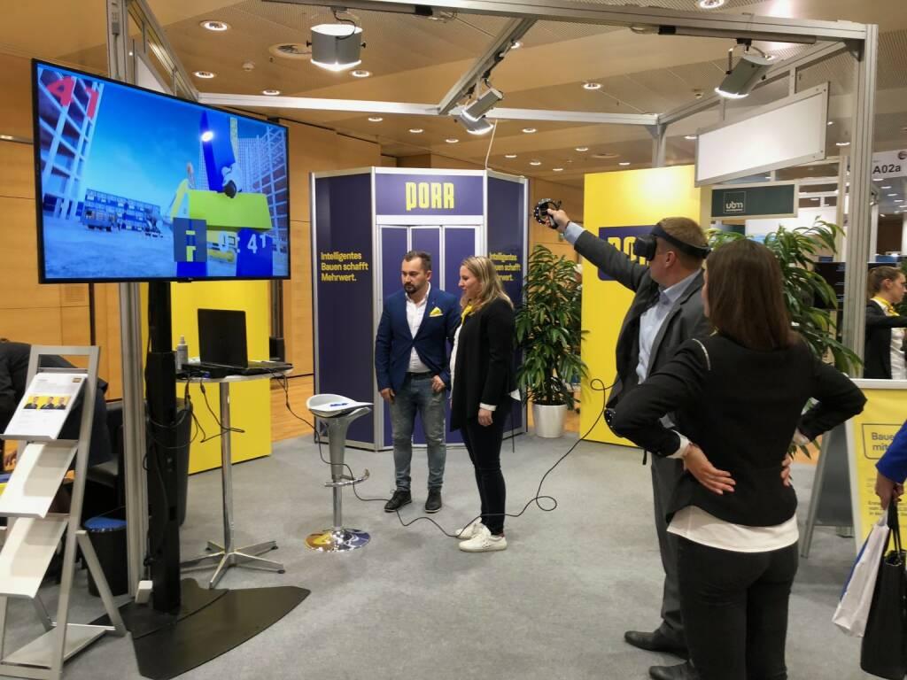 Virtual Reality am Porr-Stand auf der Gewinn Messe (18.10.2018)