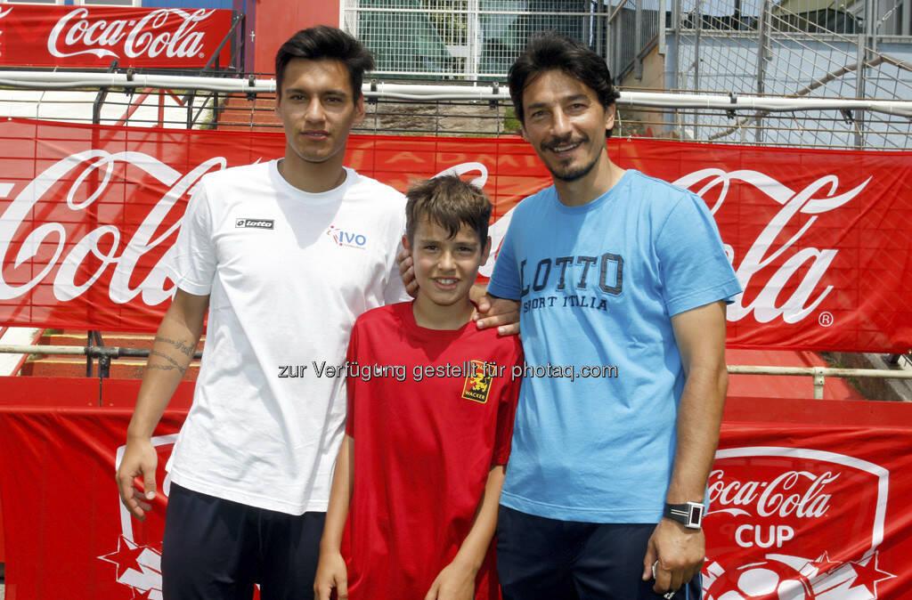 Coca Cola Cup, Bundesfinale, Ivica Vastic mit seinen Söhnen Toni und Tin, © www.GEPA-pictures.com (17.06.2013)