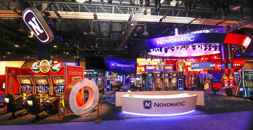 NOVOMATIC zeigte bei der Branchenmesse G2E in Las Vegas Präsenz: nsgesamt 450 Aussteller und 26.000 Fachbesucher nahmen an der 18. Global Gaming Expo (G2E) von 9. bis 11. Oktober in Las Vegas teil. Novomatic präsentierte Produkte und Spiele primär für den amerikanischen Markt. Credit: Novomatic, © Aussender (19.10.2018)