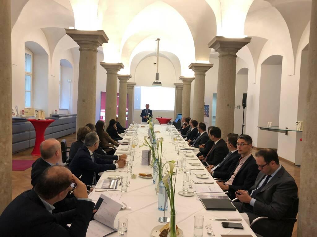 Präsentation des Österreich-Fonds der WSS Vermögensmanagement GmbH in der Säulenhalle der Wiener Börse (22.10.2018)