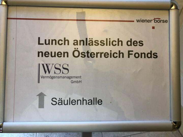 Lunch, Wiener Börse, WSS Vermögensmanagement Österreich Fonds