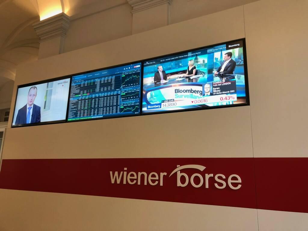 Wiener Börse, Eingangshalle, ATX,  (22.10.2018)