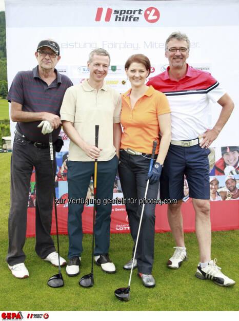 Sporthilfe Golf Trophy, GCC Schladming. Benno Kopp, Matthias Abuja, Doris Gwinner und Gerhard Prohazka, Foto: GEPA pictures/ Harald Steiner (17.06.2013)
