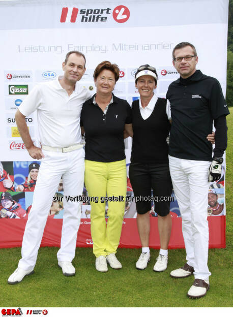 Sporthilfe Golf Trophy, GCC Schladming. Walter Pistauer, Gerlinde Gerhardter, Lea Schramek und Wolfgang Eberhardt, Foto: GEPA pictures/ Harald Steiner (17.06.2013)
