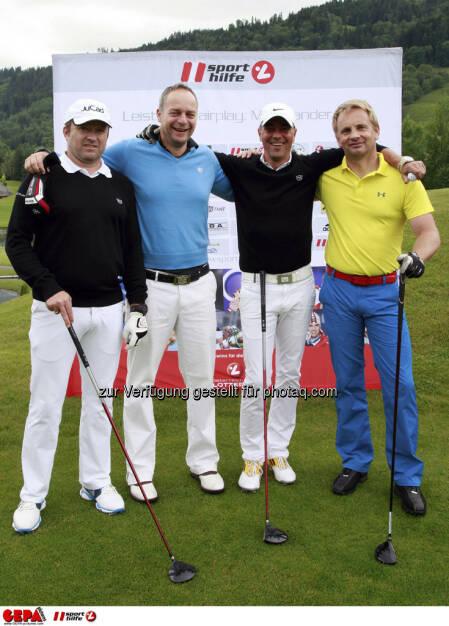 Sporthilfe Golf Trophy, GCC Schladming. Franz Huber, Uwe Zisser, Christian Bauchinger und Harald Rodler, Foto: GEPA pictures/ Harald Steiner (17.06.2013)