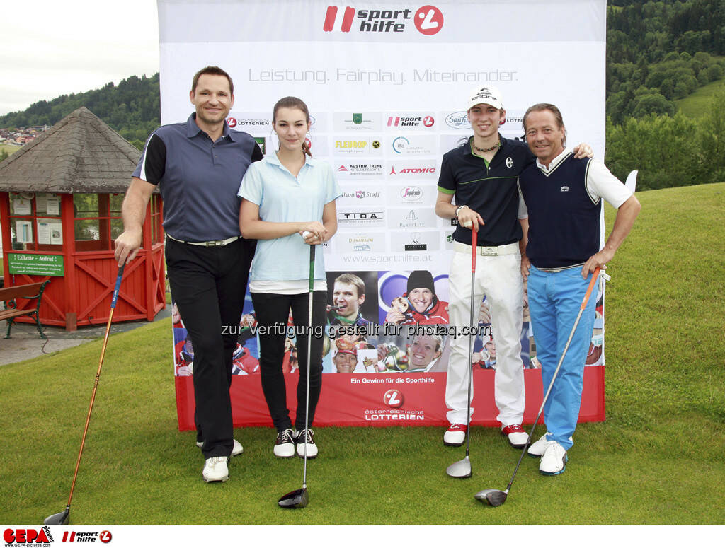 Sporthilfe Golf Trophy, GCC Schladming. Juergen Hofer, Ariana Horn, Daniel Gehbauer und Christian Gehbauer, Foto: GEPA pictures/ Harald Steiner (17.06.2013)