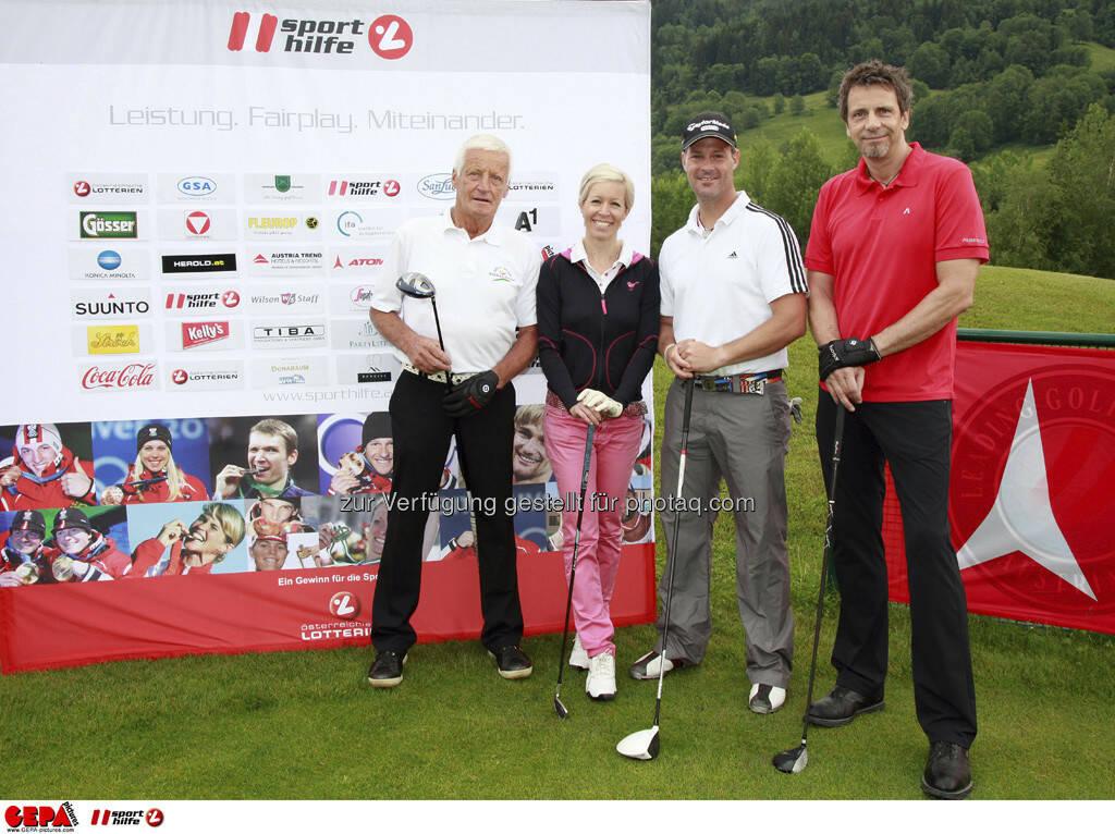 Sporthilfe Golf Trophy, GCC Schladming. Robert Tritscher, Heidi Neururer, Georg Wernicke und Michael Etschmaier, Foto: GEPA pictures/ Harald Steiner (17.06.2013)