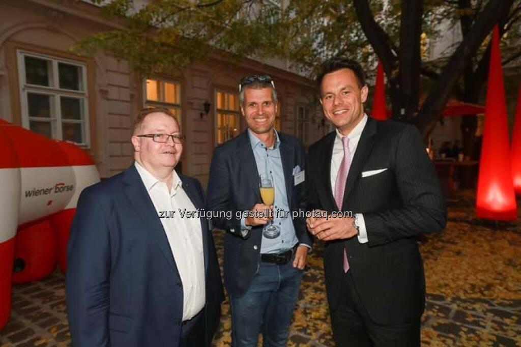 Gregor Rosinger, Michael Eisler (startup300), Christoph Boschan (Wiener Börse), © APA-Fotoservice (29.10.2018)