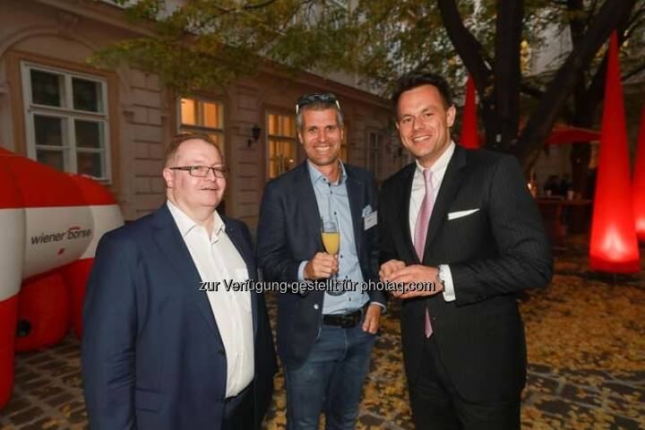 Gregor Rosinger, Michael Eisler (startup300), Christoph Boschan (Wiener Börse)