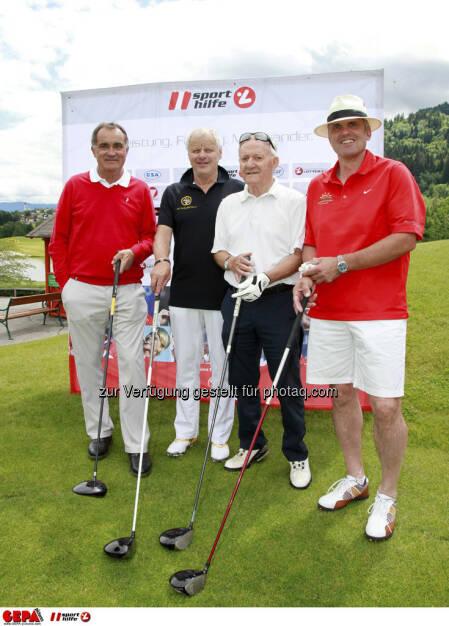 Sporthilfe Golf Trophy, GCC Schladming. Franz Wittmann, Fred Steinacher, Karl Kahr und Armin Kogler, Foto: GEPA pictures/ Harald Steiner (17.06.2013)