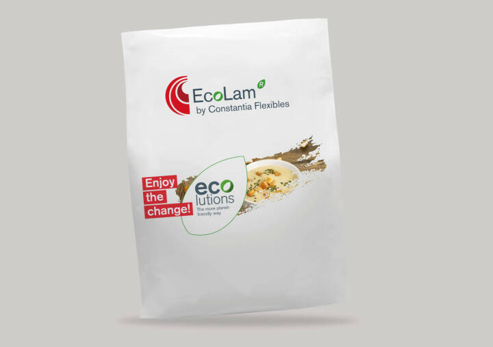 Constantia Flexibles präsentiert Verpackungslösungen für mehr Nachhaltigkeit, die Verpackungslinie EcoLam zeichnet sich durch sehr gute Barriereeigenschaften aus. Credit: Constantia Flexibles