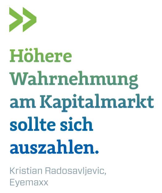 Höhere Wahrnehmung am Kapitalmarkt sollte sich auszahlen. Kristian Radosavljevic, Eyemaxx (14.11.2018)