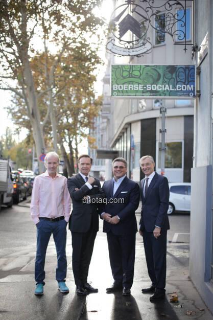 Christian Drastil (BSN), Thomas Winkler (UBM), Karl-Heinz Strauss (Porr), Thomas Birtel (Strabag), © Michaela Mejta/photaq.com (21.11.2018)