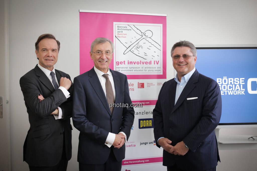Thomas Winkler (UBM), Thomas Birtel (Strabag), Karl-Heinz Strauss (Porr), © Michaela Mejta/photaq.com (21.11.2018)