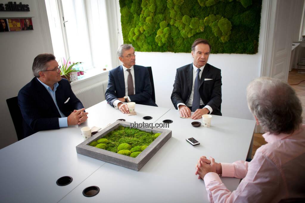 Karl-Heinz Strauss (Porr), Thomas Birtel (Strabag), Thomas Winkler (UBM), Christian Drastil (BSN), © Michaela Mejta/photaq.com (21.11.2018)