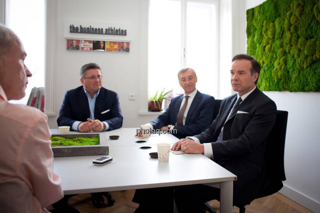 Christian Drastil (BSN), Karl-Heinz Strauss (Porr), Thomas Birtel (Strabag), Thomas Winkler (UBM), © Michaela Mejta/photaq.com (21.11.2018)