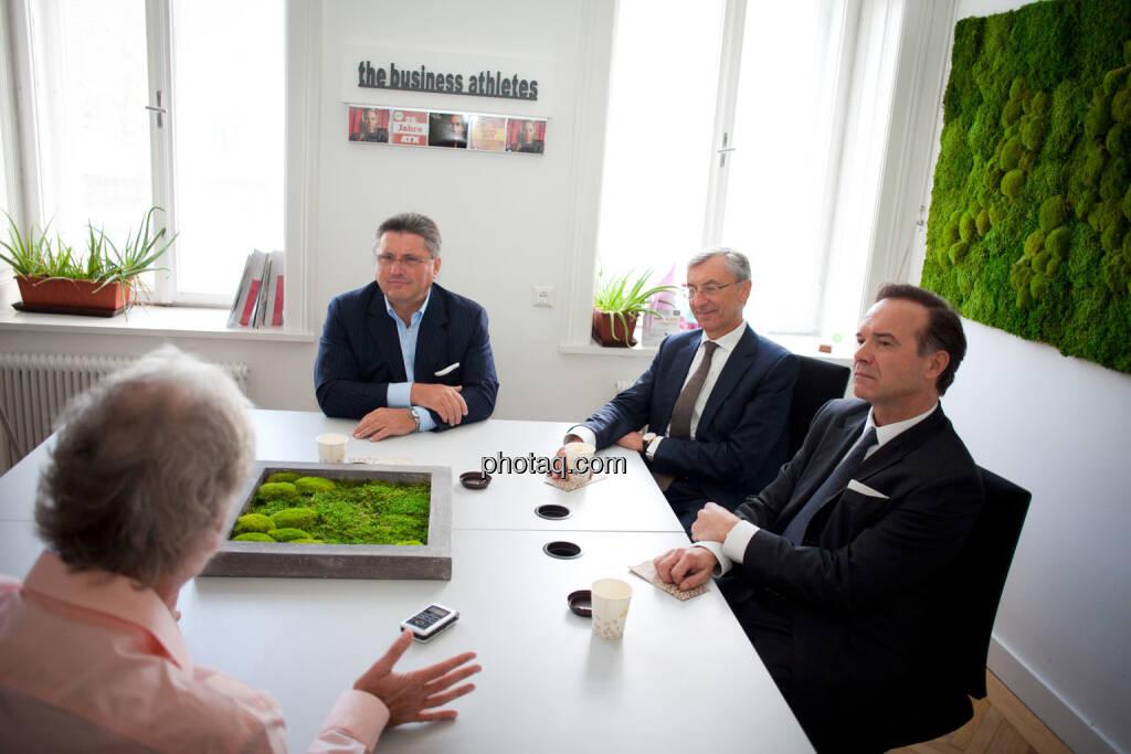 Karl-Heinz Strauss (Porr), Thomas Birtel (Strabag), Thomas Winkler (UBM), © Michaela Mejta/photaq.com (21.11.2018)