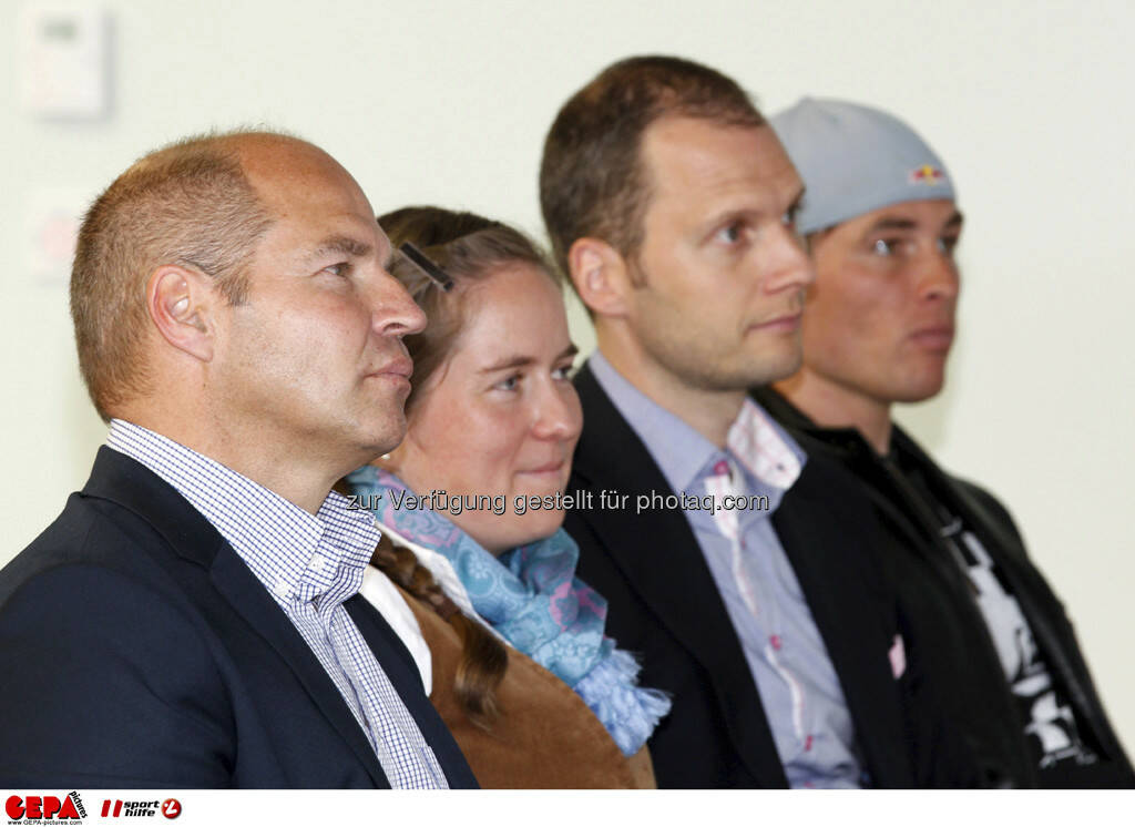 WIFI Sporthilfe Forum. Marc Girardelli, Julia von Deines (Falkensteiner), Constantin von Deines (Falkensteiner) und Benjamin Karl (AUT), Foto: GEPA pictures/ Harald Steiner (17.06.2013)