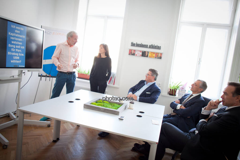 Christian Drastil (BSN), Sabine Gstöttner (Inspirin), Karl-Heinz Strauss (Porr), Thomas Birtel (Strabag), Thomas Winkler (UBM), © Michaela Mejta/photaq.com (21.11.2018)
