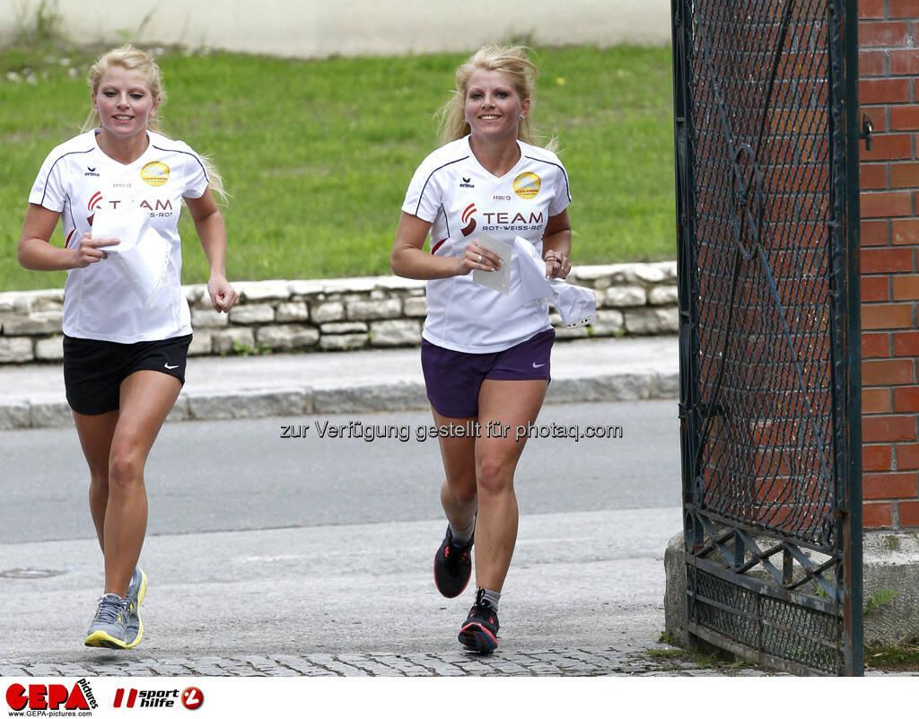 WIFI Sporthilfe Forum. Mirnesa Becirovic und Mirneta Becirovic (AUT), Foto: GEPA pictures/ Harald Steiner (17.06.2013)