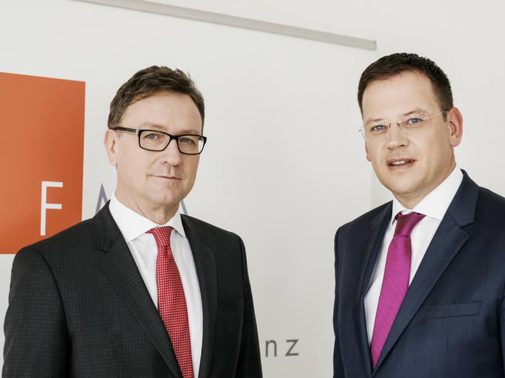 FMA Vorstand: Helmut Ettl, Klaus Kumpfmüller; Credit: Steinbach, © Aussender (30.11.2018)