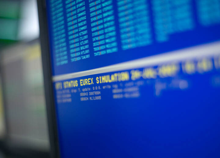 Eurex, Deutsche Börse, Trading, Kurse, Aktien, Bildschirm, Aktien, Credit: Deutsche Börse