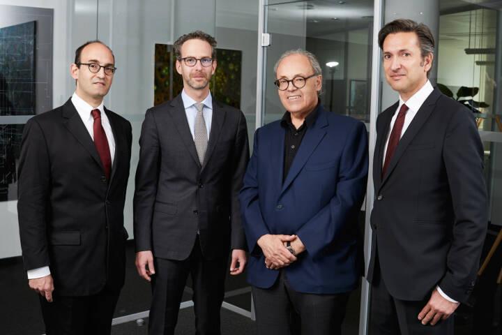 Warimpex-Management: v.li. Alexander Jurkowitsch, Daniel Folian, Franz Jurkowitsch, Florian Petrowsky; Credit: Warimpex
