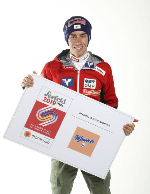 Manner, Skispringen, Skispringer Stefan Kraft (AUT), Sponsoring, Credit: GEPA pictures/Manner Photo: GEPA pictures/ Markus Oberlaender, © Aussendung (30.11.2018)
