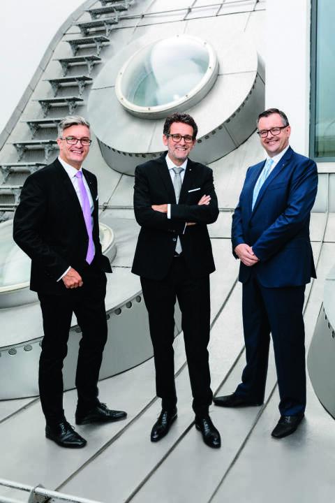 Bank für Tirol und Vorarlberg, BTV, Vorstandsteam: Michael Perger, Gerhard Burtscher, Mario Pabst; Credit: Thomas Schrott