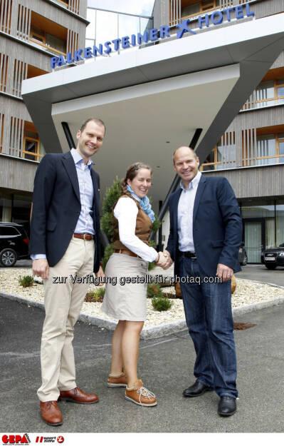 WIFI Sporthilfe Forum. Constantin von Deines (Falkensteiner), Julia von Deines (Falkensteiner) und Marc Girardelli, Foto: GEPA pictures/ Harald Steiner (17.06.2013)