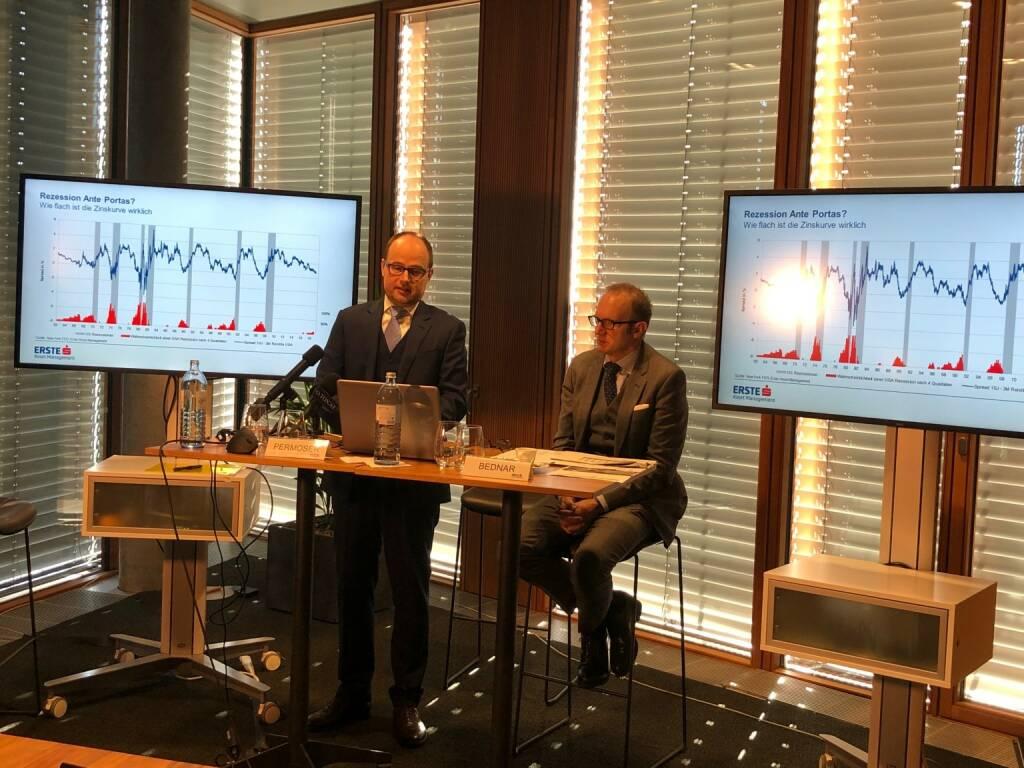 Erste Asset Management (Erste AM): Pressekonferenz zum Thema: Ausblick auf 2019, Gründe optimistisch zu bleiben, Gerold Permoser (CIO) und Heinz Bednar (CFO), Credit: BSM (05.12.2018)