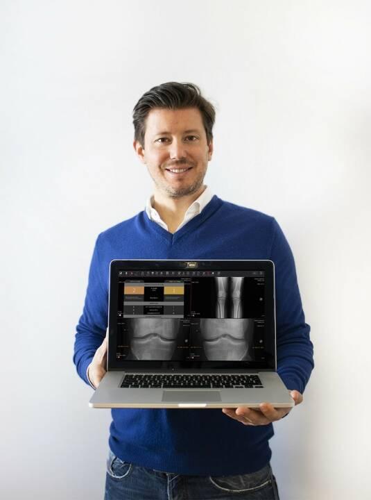 aws Gründerfonds und APEX Ventures investieren gemeinsam in das Wiener Startup IB Lab. Das Start-up hat sich auf künstliche Intelligenz im Gesundheitsbereich (Health-AI) spezialisiert und erhält nun ein siebenstelliges Investment für Softwarelösung zur Früherkennung und Diagnose von Knochenerkrankungen, im Bild: Richard Ljuhar, Geschäftsführer IB Lab GmbH; Fotocredit:IB Lab GmbH