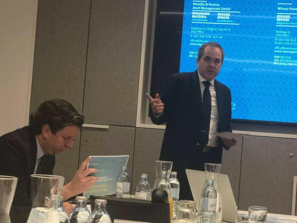 Wiener Privatbank-Pressefrühstück mit den Fondsmanagern Wolfgang Matejka und Florian Rainer (07.12.2018)
