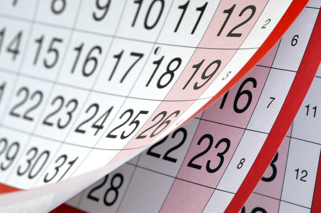 Woche, Monat, Kalender - https://de.depositphotos.com/24522765/stock-photo-calendar.html, &copy; <a href=