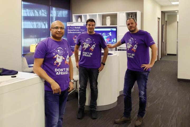 Österreichische Open-Source Software Pimcore erhält 3,5 Mio. USD von der Münchner Auctus Capital; v.l.: Shashin Shah (CEO von Pimcore Global Services), Roland Dessovic (Pimcore Geschäftsführer) und Dietmar Rietsch (Pimcore Geschäftsführer). Credit: Pimcore