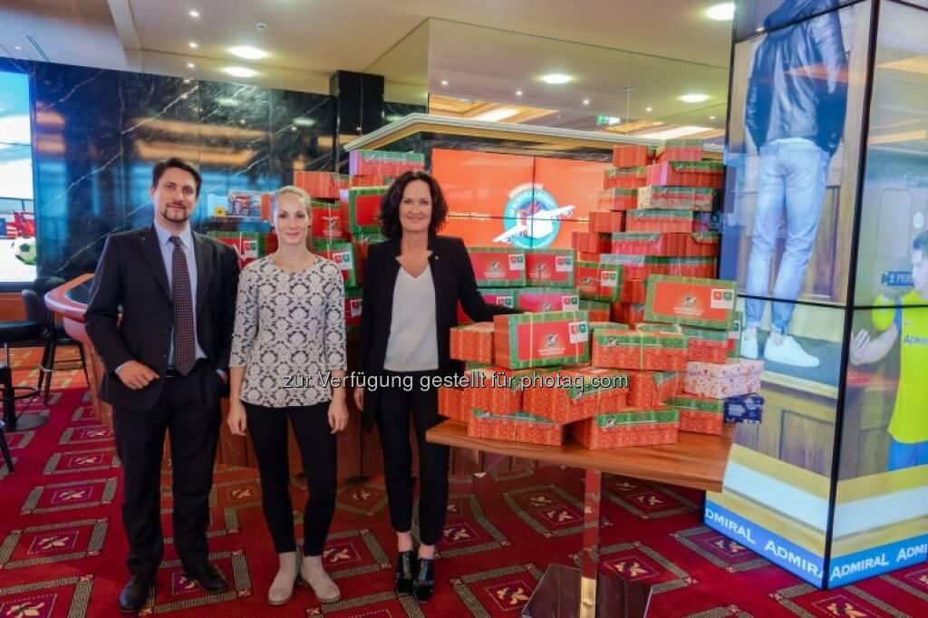v.l.n.r. Mag. Philipp Gaggl; Sabrina Frauenhofer, BA; Dr. Eva Glawischnig Fotocredit: Sonja Kadlec, MA (18.12.2018)