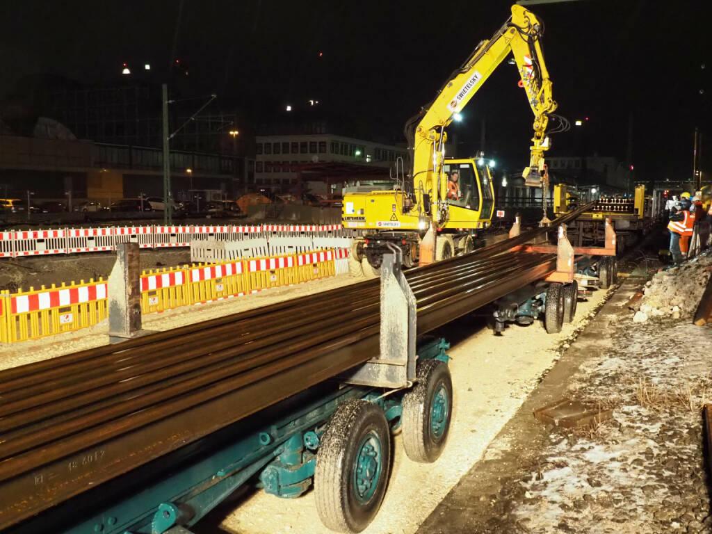 Das Bahnprojekt Stuttgart-Ulm ist das größte Ausbaukonzept für den öffentlichen Schienenverkehr in Baden-Württemberg seit dem 19. Jahrhundert. Die Swietelsky Baugesellschaft (Linz) hatte sich 2017 zusammen mit der Rhomberg Bahntechnik (Bregenz) den Zuschlag für Gleisbau und bahntechnische Ausrüstung der Neubaustrecke von Wendlingen nach Ulm gesichert. Fotocredit: Malte Hombergs/DB Projekt Stuttgart–Ulm GmbH, © Aussendung (21.12.2018)