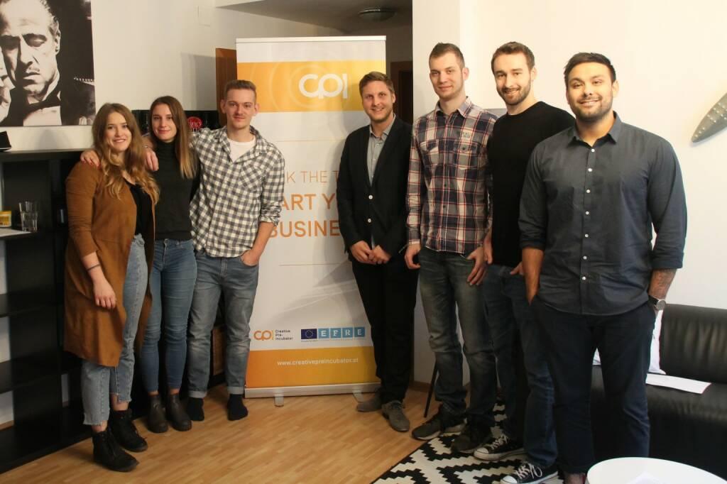 Die innovativsten Geschäftsideen heimischer FH-Studierender und -AbsolventInnen werden im CPI-Programm gefördert, Teams AMU, copyright AMU Wieselburg, Mariella Pfannenstill (28.12.2018)