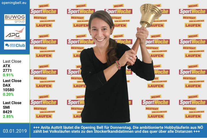3.1.: Anita Auttrit läutet die Opening Bell für Donnerstag. Die ambitionierte Hobbyläuferin aus NÖ zählt bei Volksläufen stets zu den Stockerlkandidatinnen und das quer über alle Distanzen https://www.facebook.com/search/top/?q=sportsblogged http://www.runplugged.com