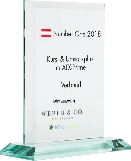 Number One Awards 2018 - Kurs- & Umsatzplus im ATX Prime Verbund, © photaq (14.01.2019)