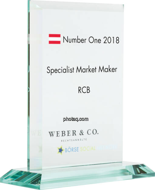 Number One Awards 2018 - Specialist Market Maker RCB, © photaq (14.01.2019)