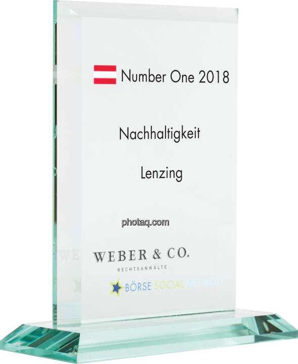 Number One Awards 2018 - Nachhaltigkeit Lenzing