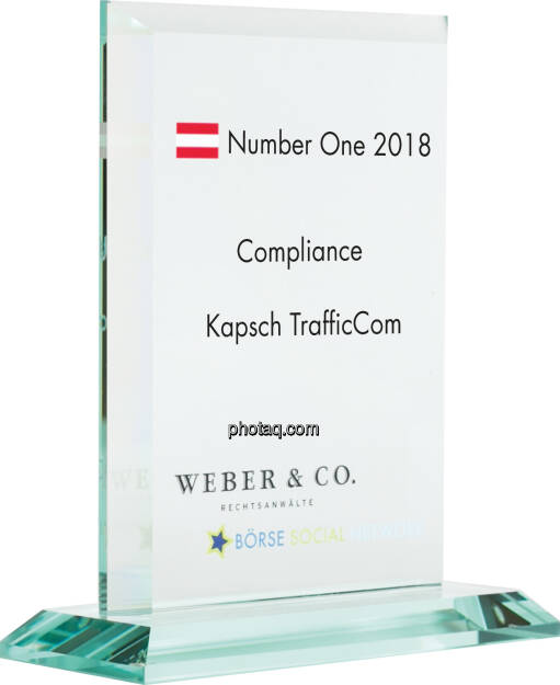 Number One Awards 2018 - Compliance Kapsch TrafficCom, © photaq (14.01.2019)