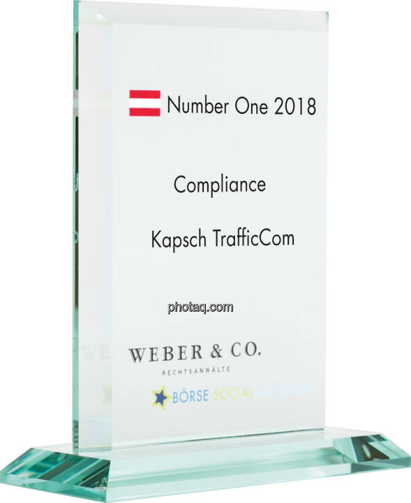 Number One Awards 2018 - Compliance Kapsch TrafficCom
