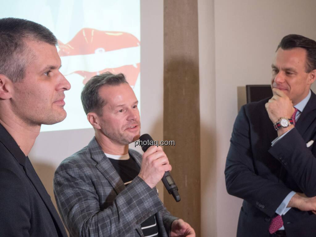 Michael Eisler, Bernhard Lehner (startup300), Christoph Boschan, direct market plus (21.01.2019)