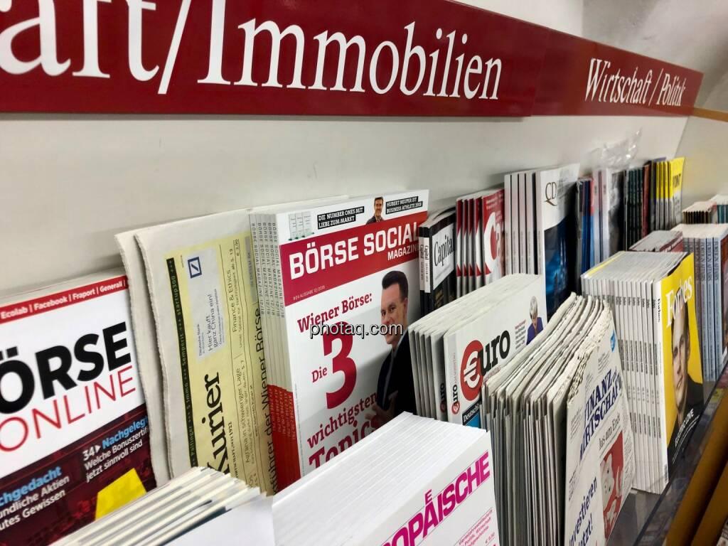 Börse Social Magazine #24, Kiosk, Morawa, Christoph Boschan, Wiener Börse, © photaq.com (21.01.2019)