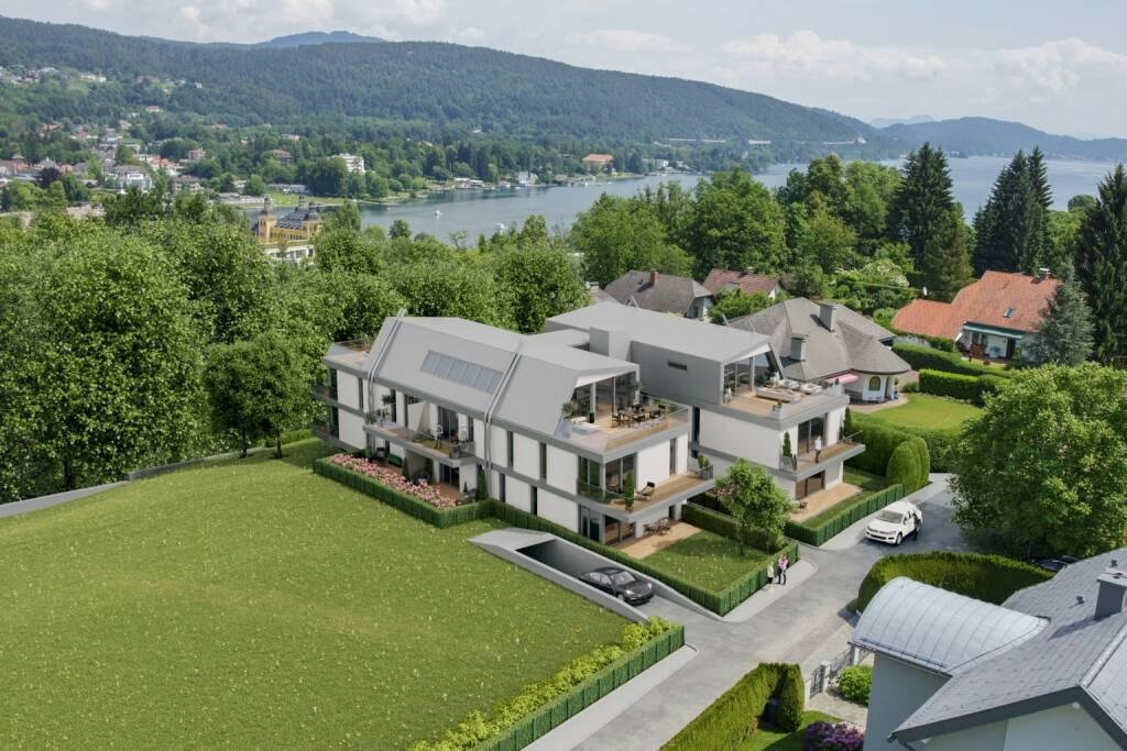 Home Rocket, die Crowdinvesting-Plattform für Immobilien, verzeichnet 2018 ein Rekordjahr: Insgesamt investierte die Crowd knapp  9 Mio. Euro in die angebotenen Immobilien-Projekte. Im Vergleich zum Vorjahr bedeutet das eine Steigerung um 75 %. Ab Ende Jänner haben interessierte Anleger die Möglichkeit, zu attraktiven Konditionen in vier neue Projekte in Kärnten, Oberösterreich und Wien zu investieren iIm Bild: SEERESIDENZ VELDEN, Copyright: SIEBEN DÖRFER Immobilien (23.01.2019)