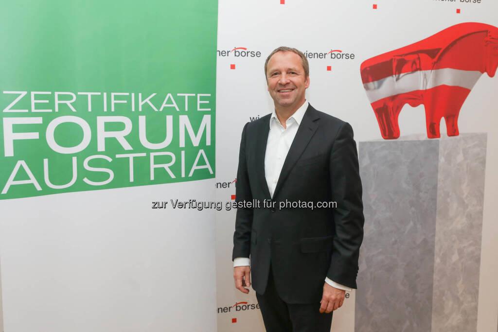 Frank Weingarts (UniCredit onemarket), © Zertifikate Forum Austria/APA-Fotoservice/Tanzer Fotograf/in: Richard Tanzer (23.01.2019)