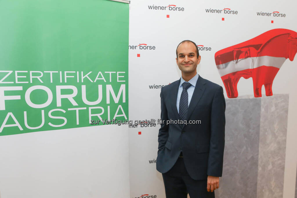 Pedram Payami (Erste Group), © Zertifikate Forum Austria/APA-Fotoservice/Tanzer Fotograf/in: Richard Tanzer (23.01.2019)